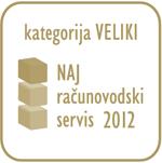 Zmagovalec izbora Naj računovodski servis 2012 - kategorija VELIKI